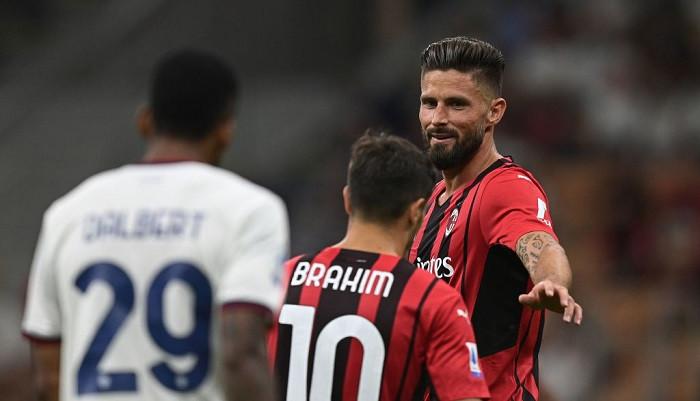 Милан не оставил шансов Кальяри благодаря дублю Жиру