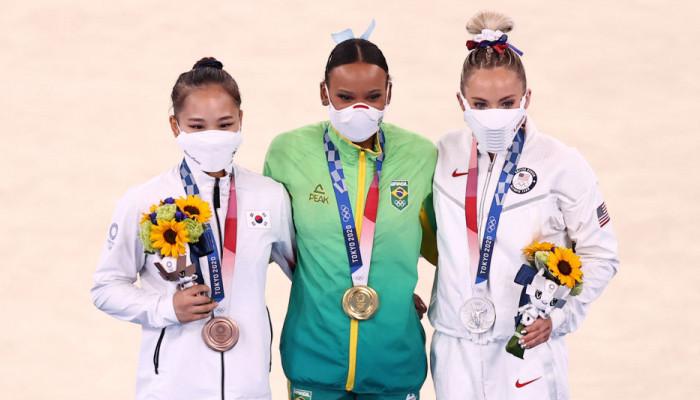 Ребека Андраде завоевала золото Игр в опорном прыжке