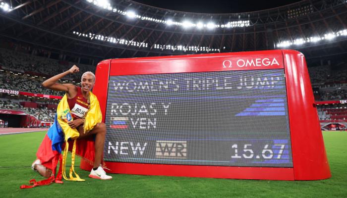 Юлимар Рохас с мировым рекордом выиграла золото в тройном прыжке
