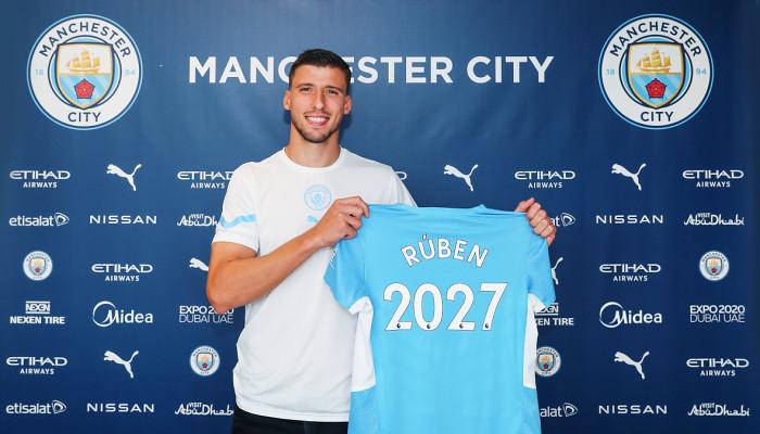 Рубен Диаш подписал новый контракт с Манчестер Сити до 2027 года