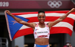 Жасмин Камачо-Куинн стала олимпийской чемпионкой в беге на 100 метров с препятствиями