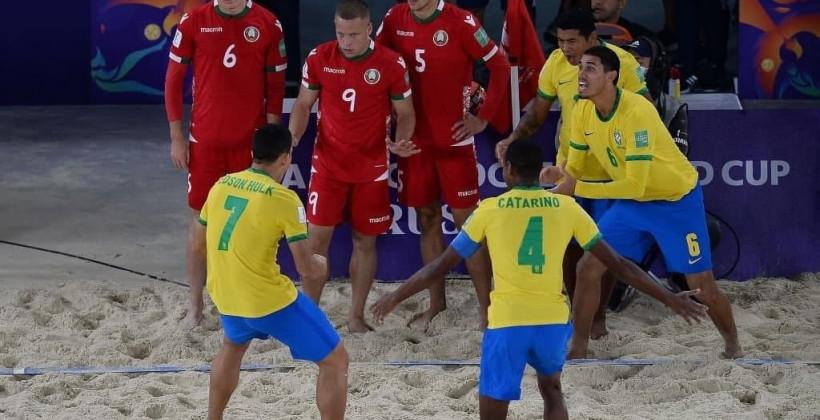 Беларусь всухую проиграла сборной Бразилии на чемпионате мира по пляжному футболу