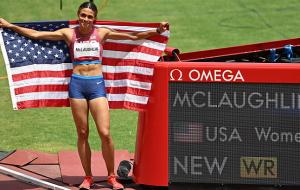 Cинди Маклафлин установила новый мировой рекорд в забеге на 400 метров с барьерами
