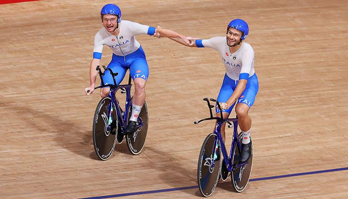 Сборная Италии выиграла олимпийское золото в мужской командной гонке преследования на велотреке