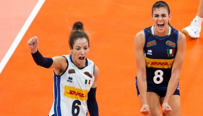 Италия оказалась сильнее Сербии в финале женского чемпионата Европы по волейболу