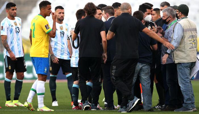 Бразилия и Аргентина не смогли сыграть матч отбора на ЧМ-2022 из-за вмешательства полиции