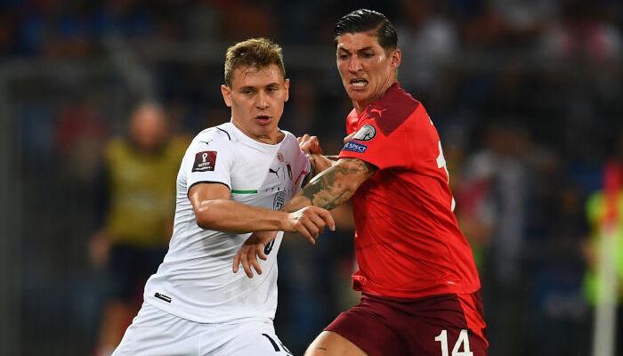 Сборная Италии разошлась миром со сборной Швейцарии. Команды не смогли распечатать ворота друг друга