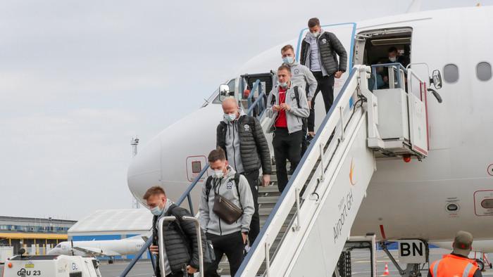 Сборная Беларуси прибыла в Эстонию