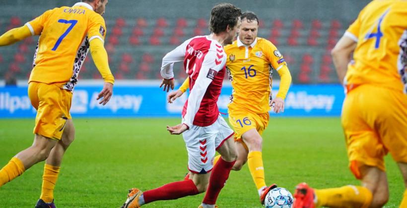 Дания не оставила шансов Молдове и закрепилась на первом месте группы F