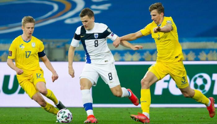 Украина оказалась сильнее Финляндии, одержав первую победу в отборе на ЧМ-2022