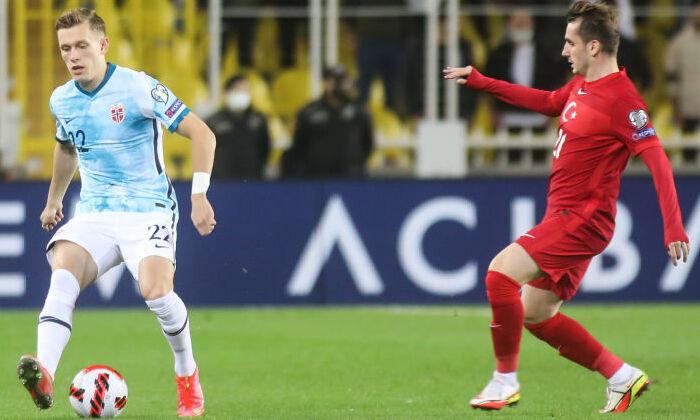 Сборные Норвегии и Турции разделили очки в матче отбора к ЧМ-2022