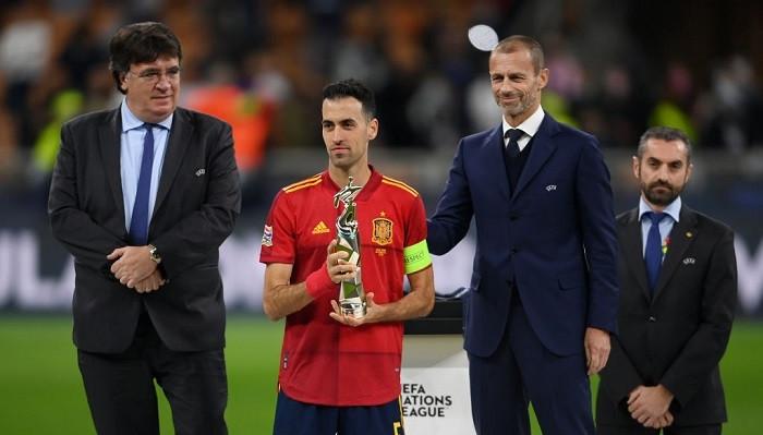 Серхио Бускетс признан лучшим игроком финала четырёх Лиги наций