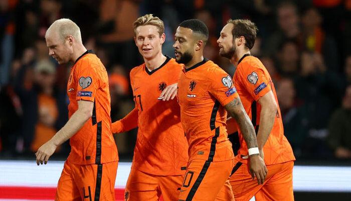 Нидерланды дома не оставили шансов Гибралтару, забив шесть мячей
