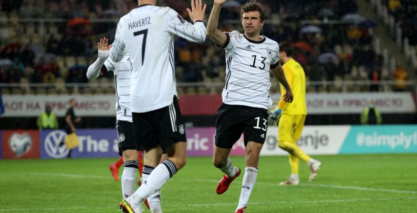Германия крупно обыграла Северную Македонию и обеспечила себе прямое попадание на чемпионат мира
