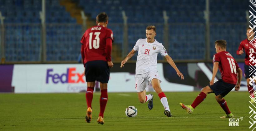 Сборная Беларуси уступила Чехии и лишилась шансов на попадание на ЧМ-2022